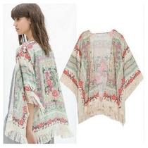 Kimono Chale Inverno Bege Cardigan Casaco Pronta Entrega
