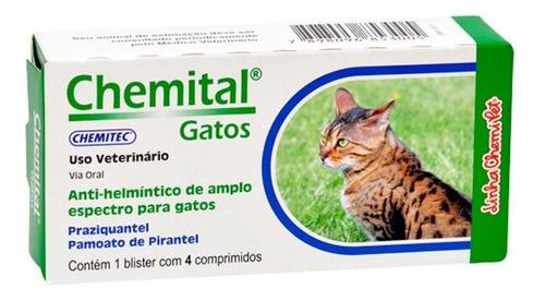 Chemital Gatos Chemitec 4 Comprimidos