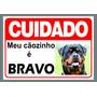 Placa Cuidado Com O Cão Personalizada Com A Foto Do Seu Cão