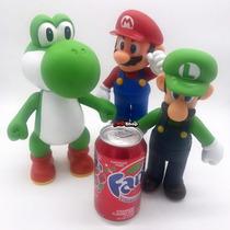 Super Mario + Yoshi + Luigi 3 Boneco Big Size 23cm Nintendo