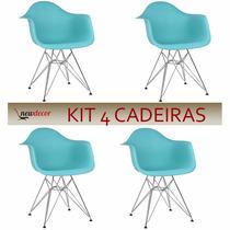 Cadeira Charles Eames Dar Kit 4 Cadeiras 12x S/ Juros