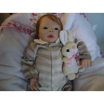Bebê Reborn - Cabelos Implantados 1,8 Kg E 45 Cm Aprox.