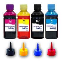 Kit 4 Refil Tinta Epson Inktec L200 L210 L355 L555 L100 2lt