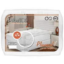 Pillow Top Casal 100% Pluma De Ganso Percal 233 Fios Plumasu