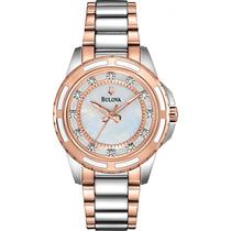 Relógio Bulova Womens Diamond 98p134