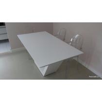 Mesa Jantar Em Resina Branca Brina 1.20 X 0.90