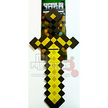 Espada Ouro Minecraft - 60 Cm - Garantia Inmetro