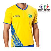 Camisa Volei Brasil Cbv Olympikus Masc - Oficial- Lançamento
