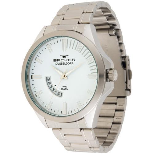 Relógio Masculino Backer 6106253m Br Dusseldorf Prata