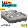 Conjunto Ortobom Ultra Resistente D26 Cama Box colchão138x62