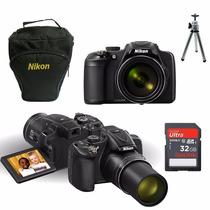 Câmera Nikon P610 16.mp 60x+32gb Class10+bolsa+hdmi+tripé