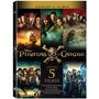Box Dvd Coleção Piratas Do Caribe - 5 Discos  - Orig Lacrado