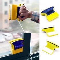 Limpa Vidros Clear Magnetic Magnético Rodo Mágico Dupla Fac
