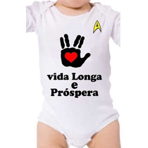 Body Baby Vida Longa E Prospera Spock Star Trek Live Long