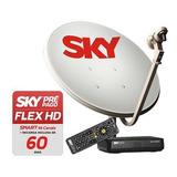 Receptor Sky Pré-pago Hd + Recarga 30 Dias + Antena Completa