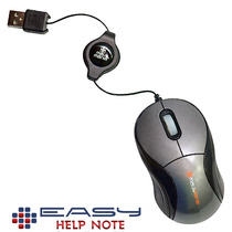 Mouse Mini Retrátil Óptico Usb M-mini - Cinza 1000 Dpi
