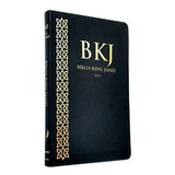 Biblia Slim King James Fiel 1611 Ultra Fina Capa Pu Preta