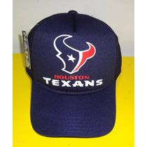 Boné Texas Houston Nfl Futebol Americano Trucker Cap Tela