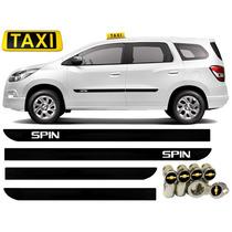 Jgo Friso Lateral Preto Spin Taxi Branco + Bico De Pneu Gm