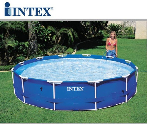 Piscina intex 12422 lts estrutural standard litros for Piscinas rectangulares intex