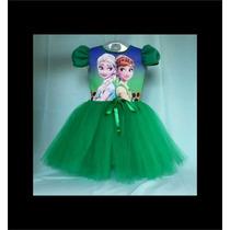 Vestido Infantil Festa Frozen 2 Fever Bailariana Fantasia