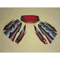 Kit Adesivos Honda Xlr Es 125 2002 Vermelha