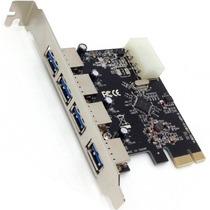 Placa Pci-e Usb 3.0 5gbps Com 4 Portas Dp-43m Nova Promoção