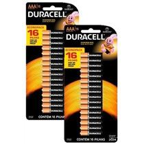Pilhas Alcalinas Duracell Aaa 32 Unidades