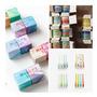 Kit 8 Fita Adesiva Decorativa Washi Tape Scrapbook Com 3m