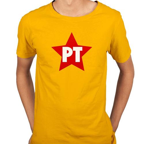 Camisa Camiseta Pt Partido Dos Trabalhadores Retrô - 6 Cores. Preço  R  39  Veja MercadoLibre 466bc39e17b