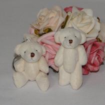 10 Chaveiros Lembrancinhas Mini Ursinhos De Pelúcia - 6cm