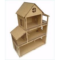Casa De Boneca Polly Mdf Desmontada