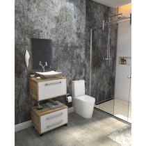Gabinete Banheiro Lyon 60cm L38 Ccuba Espelho Frete Grátis