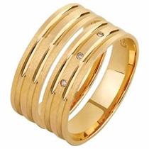 Par Aliança Casamento Quadrada Fosca Em Ouro 18k Gf15051