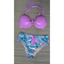 Biquíni/bikini Cintura Alta Hot Pants Pin Up - Meia Taça