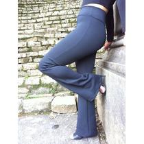 Calça Flare Bailarina Em Neoprene Tecido Grosso C/ Elastano