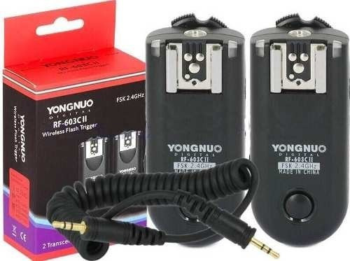 Radio Flash Wireless Yongnuo Rf 603c Canon Novo Na Caixa