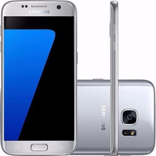 Samsung Galaxy S7 Edge, 5.5,32gb G - sm935fd, prata / azul, 4gb Ram