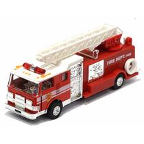 Miniatura Caminhão Corpo De Bombeiros Vermelho