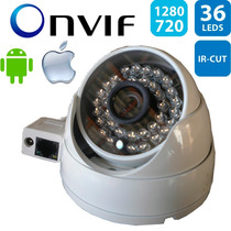 Câmera Dome Externa Anti-vandalismo Ip 1.3mp Hd 720p Onvif