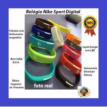 Relógio Pulseira Nike Digital Original Led Fit Pronta Entreg