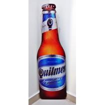 Placa Formato Garrafa Quilmes Cerveja Mdf Decoração Bar