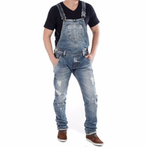 Macacão Masculino Jeans Sawary