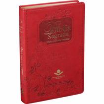Bíblia Feminina Grande Letra Gigante Índice Digital Vermelha