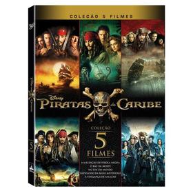 Dvd Coleção Piratas Do Caribe - 5 Discos