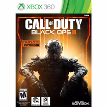 Jogo Call Of Duty Black Ops Iii Xbox 360 Mídia Física C/nf