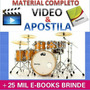 Curso Bateria Baterista Videos + Apostilas + Brindes G $3,99