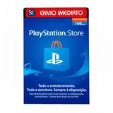 Cartão Playstation Psn Brasileira R$160 (100 + R$60) Reais