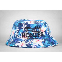 Chapéu Bucket Hat Boné Reason New York Homies Floral Raro