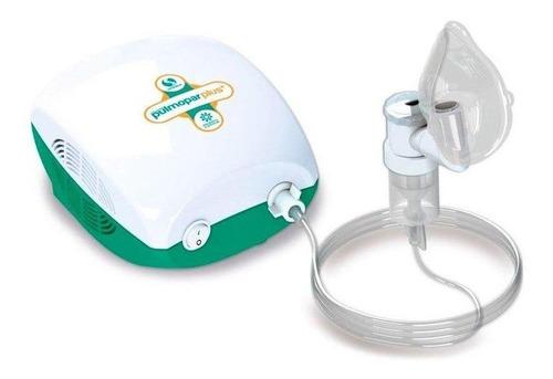 Nebulizador Compressor Soniclear Pulmopar Plus Branco E Verde 110v/220v